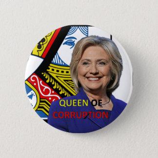 ヒラリー・クリントン堕落の女王 缶バッジ
