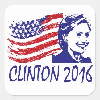 ヒラリー・クリントン2016のサポート項目 スクエアシール