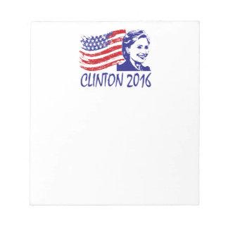 ヒラリー・クリントン2016のサポート項目 ノートパッド