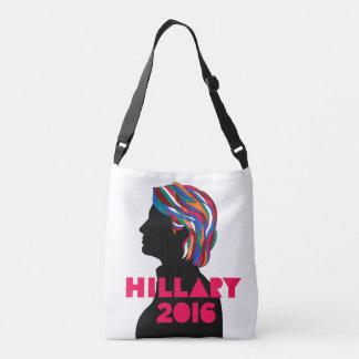 ヒラリー・クリントン2016の十字の遺体袋 クロスボディバッグ