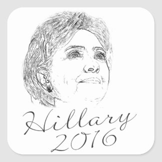 ヒラリー・クリントン2016年 スクエアシール