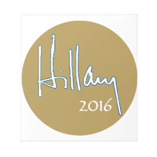ヒラリー・クリントン2016年 ノートパッド