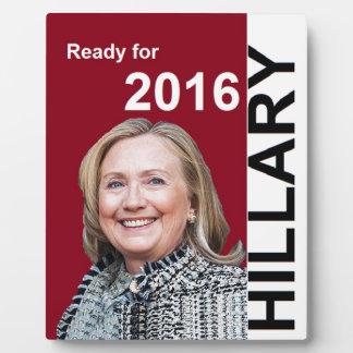 ヒラリー・クリントン2016年 フォトプラーク