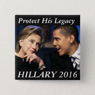 ヒラリー・クリントン2016年 5.1CM 正方形バッジ