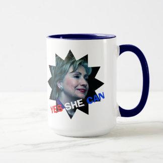 ヒラリー・クリントン2016年- Yes彼女は-マグできます マグカップ