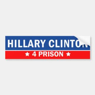 ヒラリー・クリントン4の刑務所2016年 バンパーステッカー