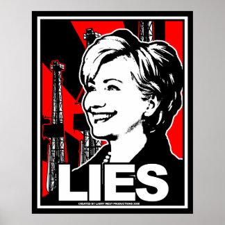 ヒラリー・クリントン: うそ! ポスター