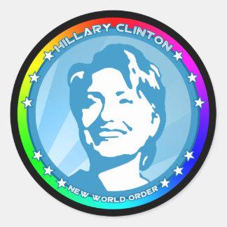 ヒラリー・クリントン。 虹 ラウンドシール
