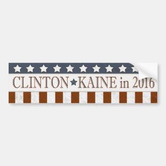 ヒラリー・クリントンTim Kaineは2016の星縞で飾ります バンパーステッカー