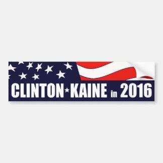 ヒラリー・クリントンTim Kaine 2016の米国旗 バンパーステッカー