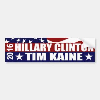 ヒラリー・クリントンTIM KAINE 2016年 バンパーステッカー