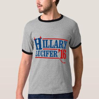 ヒラリーLucifer 2016年の- -アンチヒラリー- Tシャツ