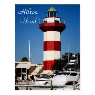 ヒルトンヘッドのSC港の町の灯台郵便はがき ポストカード