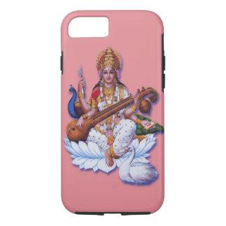 ヒンズー教の女神のSaraswatiのりんごのiphoneの懸命の場合 iPhone 8/7ケース