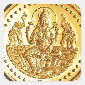 ヒンズー教の女神LAKSHMI スクエアシール