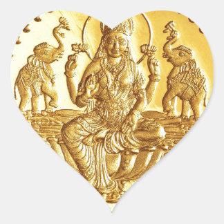 ヒンズー教の女神LAKSHMI ハートシール