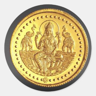 ヒンズー教の女神LAKSHMI ラウンドシール