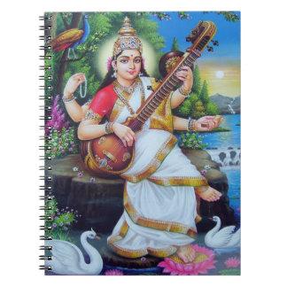 ヒンズー教の女神Saraswati ノートブック