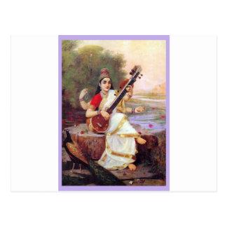 ヒンズー教の女神Saraswati ポストカード