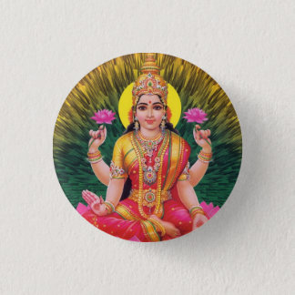 ヒンズー教の女神Saraswati 3.2cm 丸型バッジ
