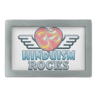 ヒンズー教の石 長方形ベルトバックル