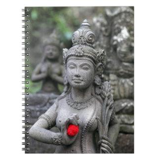 ヒンズー教の神の女神の彫像 ノートブック