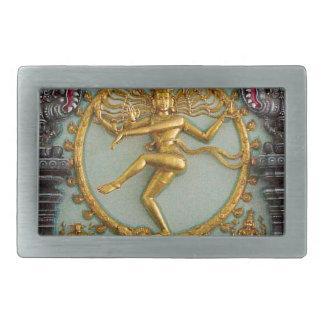 ヒンズー教の神、Shiva 長方形ベルトバックル