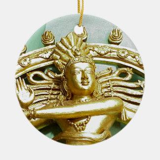 ヒンズー教の神Shivaの彫像 セラミックオーナメント