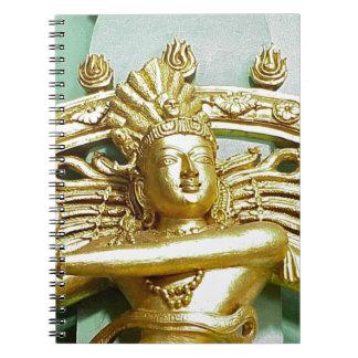 ヒンズー教の神Shivaの彫像 ノートブック