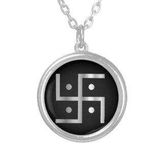 ヒンズー教の記号 シルバープレートネックレス