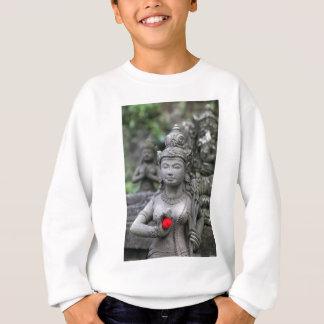 ヒンズー教神の石の彫刻 スウェットシャツ