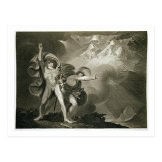 ヒースのマクベス、Banquoおよび3人の魔法使い ポストカード