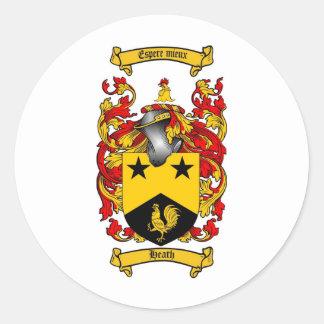 ヒースの家紋-ヒースの紋章付き外衣 ラウンドシール