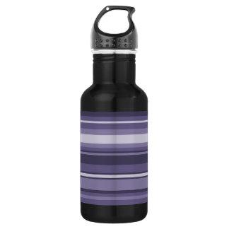 ヒースの紫色のストライブ柄 ウォーターボトル