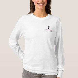 ヒースのTシャツによる長い袖の白い腹 Tシャツ