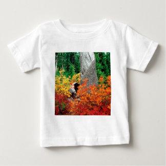 ヒース草原の北の滝の秋 ベビーTシャツ