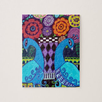 ヒースGallerによる花の芸術の孔雀 ジグソーパズル