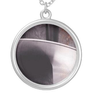 ヒーターの白黒ネックレス シルバープレートネックレス
