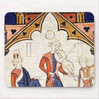 ビオラおよびタンブリンを遊んでいるミュージシャン マウスパッド