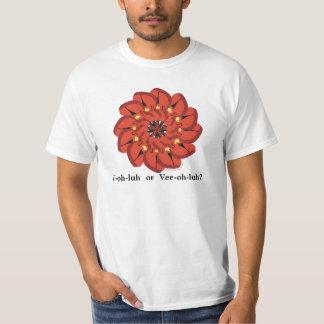 ビオラの楽器の花 Tシャツ
