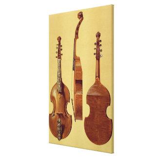 ビオラのd'Amore、「音楽的なInstrumからの18世紀、 キャンバスプリント