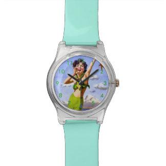 ビキニの腕時計の女性 腕時計