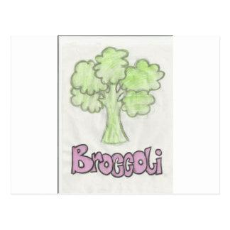 ビクトリアの想像によるブロッコリー ポストカード