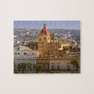 ビクトリアの町の教会の日光 ジグソーパズル
