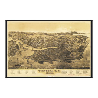 ビクトリアの空中写真、紀元前に、カナダ(1889年) キャンバスプリント