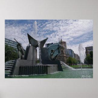 ビクトリアスクエア、アデレード、南オーストラリア ポスター