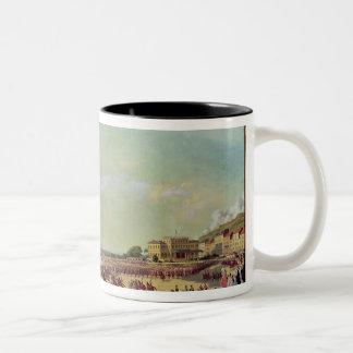 ビクトリアナポレオンIIIの歓迎する女王 ツートーンマグカップ