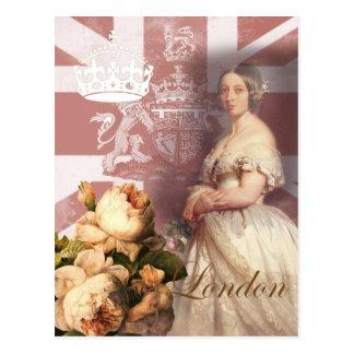 ビクトリアロンドンヴィンテージの女王 ポストカード