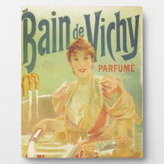 ビクトリアンでフランスのな浴槽広告女性 フォトプラーク