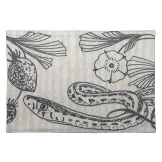ビクトリアンないちごのヘビ ランチョンマット